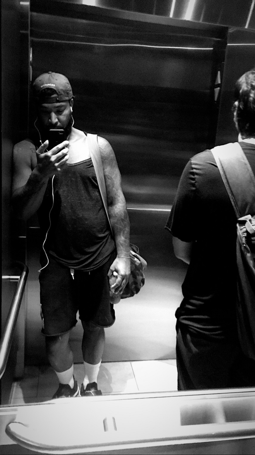 elevator black and white